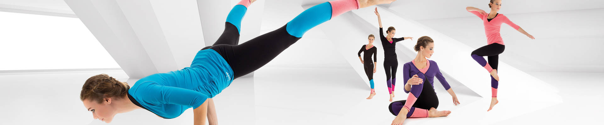 """Go for Your Colour"" Long Tights WTL13 / ¾-Arm Shirt in Wickeloptik WS3"