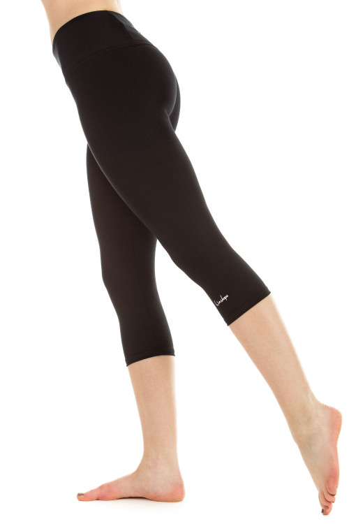 3/4-Slim Tights WTL2, schwarz