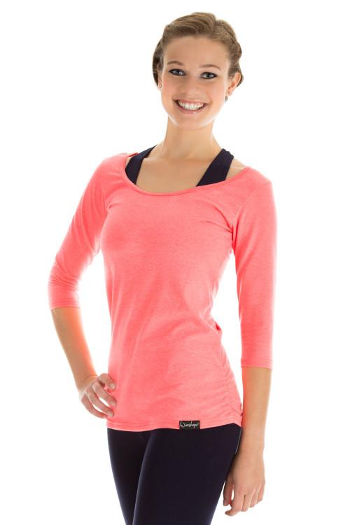 3/4-Arm Shirt WS4, neon coral