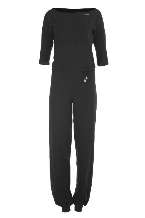 3/4-Arm-Jumpsuit WJS2, schwarz
