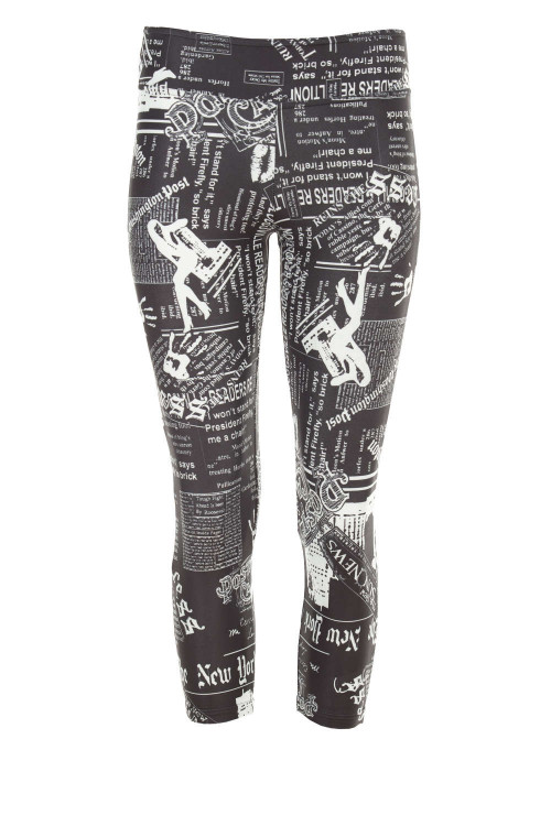 Functional 7/8-Tights WPL3, Newspaper