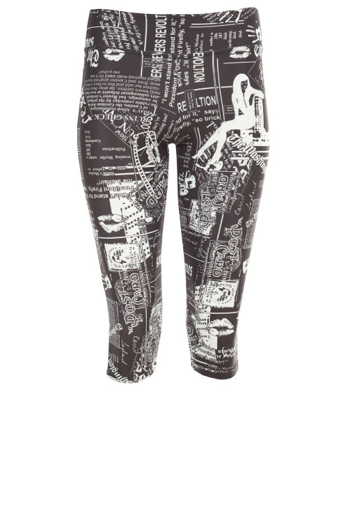 Functional 3/4-Tights WPL2, Newspaper