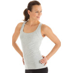 Cross Back Top WVR25, grey melange