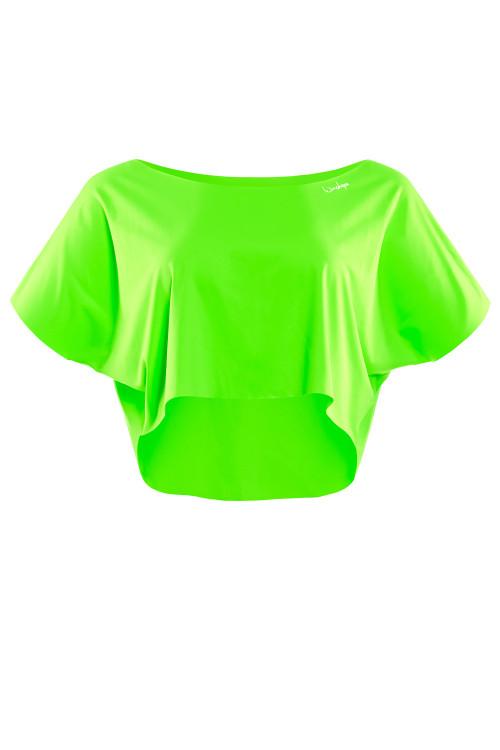 Kurzes, super leichtes Functional Dance-Top DT104, neon grün