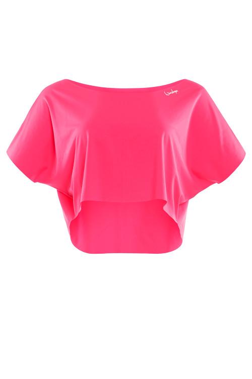 Kurzes, super leichtes Functional Dance-Top DT104, neon pink
