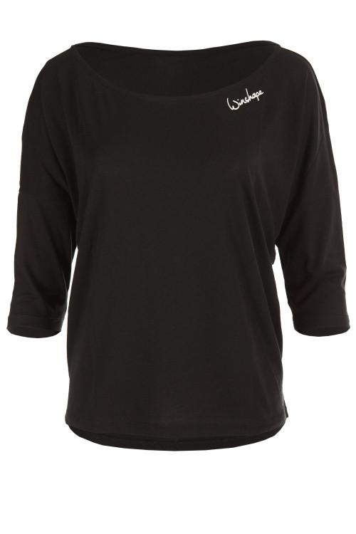 Ultra leichtes Modal-3/4-Arm Shirt MCS001, schwarz