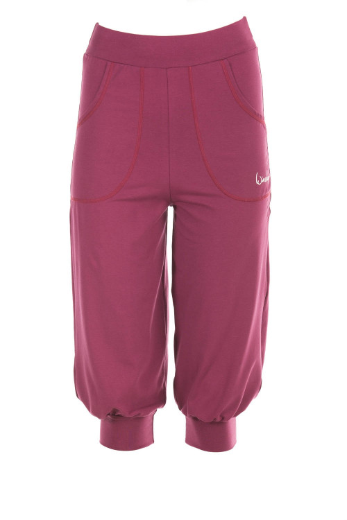Luftig-legere 3/4-High Waist-Trainingshose WBE12, berry love