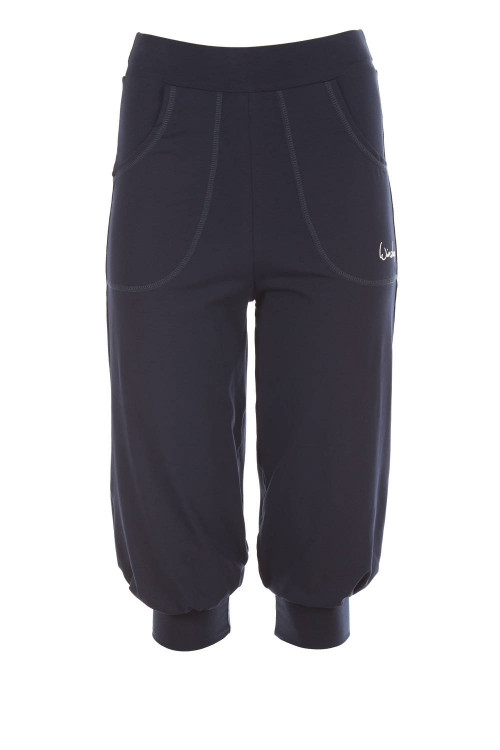 Luftig-legere 3/4-High Waist-Trainingshose WBE12, night blue
