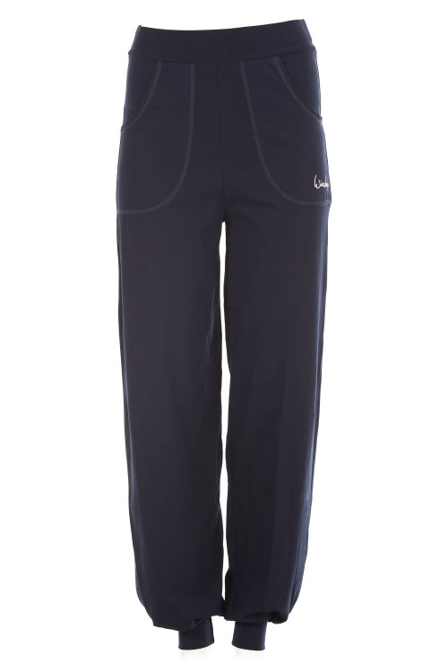Luftig-legere High Waist-Trainingshose WH12, night blue