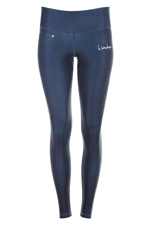 "Functional Power Shape Jeans Tights ""Bootylicious"" AEL102, rich blue"
