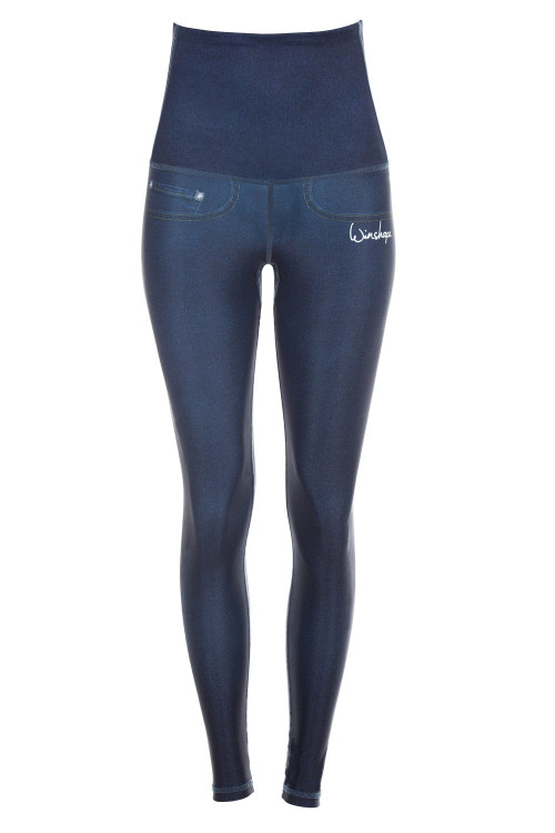 "Functional Power Shape Jeans Tights High Waist ""Bootylicious"" HWL102, rich blue"