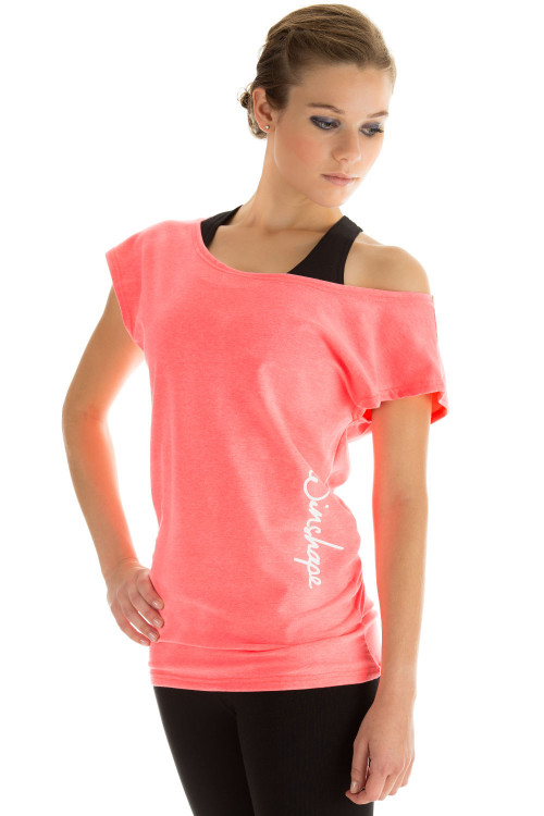 Dance-Shirt WTR12, neon coral