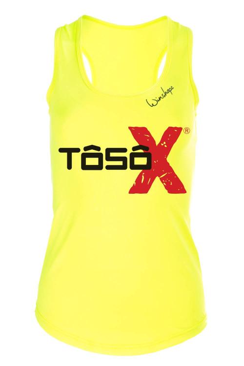 Super leichtes Functional Tanktop AET104, neon gelb, Aufdruck TôsôX