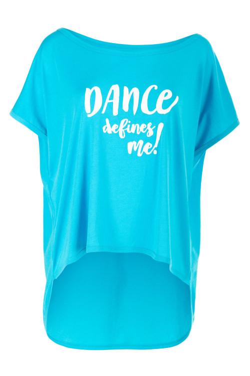 "Ultra leichtes Modal-Shirt MCT017 mit dem Aufdruck ""DANCE defines me!"", sky blue"