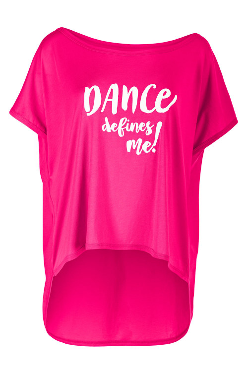 "Ultra leichtes Modal-Shirt MCT017 mit dem Aufdruck ""DANCE defines me!"", deep pink"