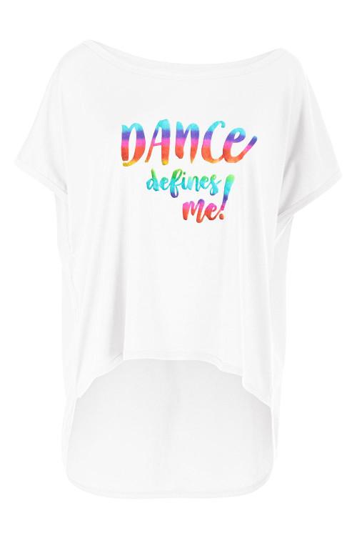 """Ultra leichtes Modal-Shirt MCT017 mit dem Aufdruck """"DANCE defines me!"""", vanilla-weiß"""