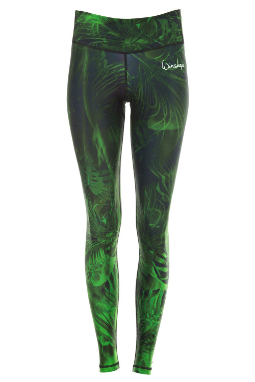 Functional Power Shape Tights AEL102 mit Anti-Rutsch-Effekt, rain forest