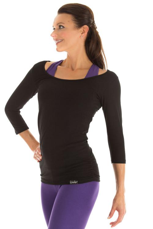 3/4-Arm Shirt WS4, schwarz