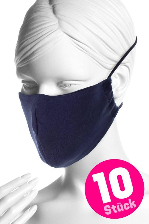 Wiederverwendbare Mund- und Nasenmaske WMSM1, night blue, 10 Stück