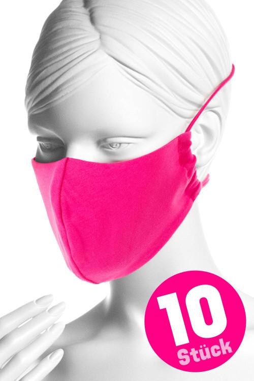 Wiederverwendbare Mund- und Nasenmaske WMSM1, pink, 10 Stück