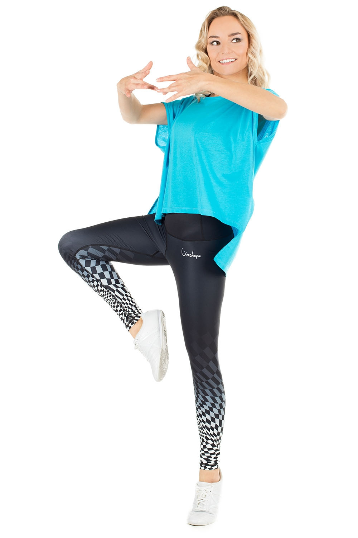 Slim Style Fitness Sport Yoga Workout Freizeit Leggings WINSHAPE Damen Functional Power Shape Tights High Waist Hwl102 mit Anti-rutsch-Effekt