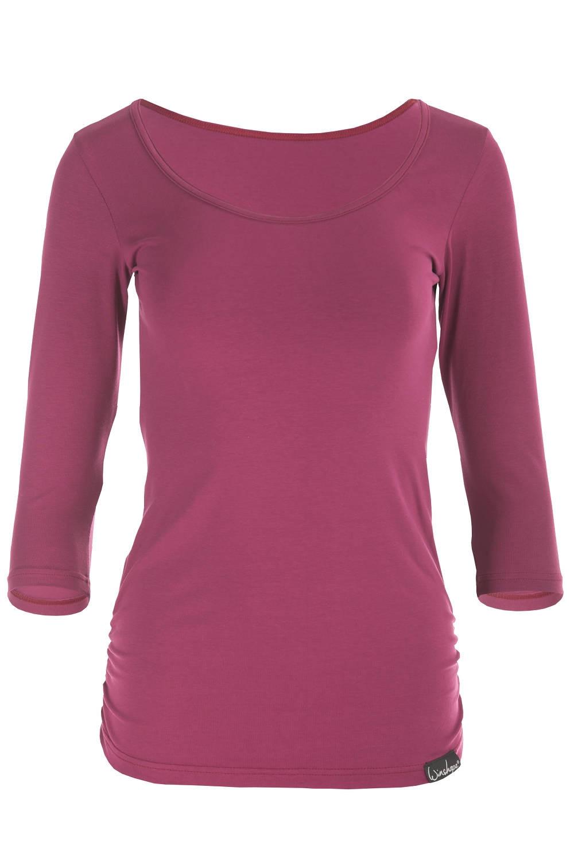 Winshape Yoga Pilates Fitness para Mujer 3//4-Arm Camiseta WS4 Negro Negro Talla:Large