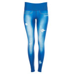 "Functional Power Shape Jeans Tights ""Blue Lagoon"" AEL102, ocean blue"