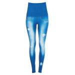 "Functional Power Shape Jeans Tights High Waist ""Blue Lagoon"" HWL102, ocean blue"