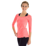 3/4-Arm Shirt WS4, neon coral