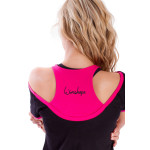 Cut-Out-Shirt WTR5, schwarz/pink