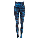 "Functional Power Shape Tights ""High Waist"" HWL102, camo blue"