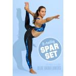 Sparset Sport-BH + Leggings, blue rainflowers, 2-teilig