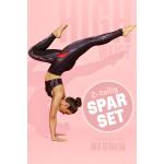 Sparset Sport-BH + High Waist-Leggings, red gerbera, 2-teilig